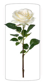 Fleur artificielle Rose jardin - composition bouquet - H.82 cm blanc