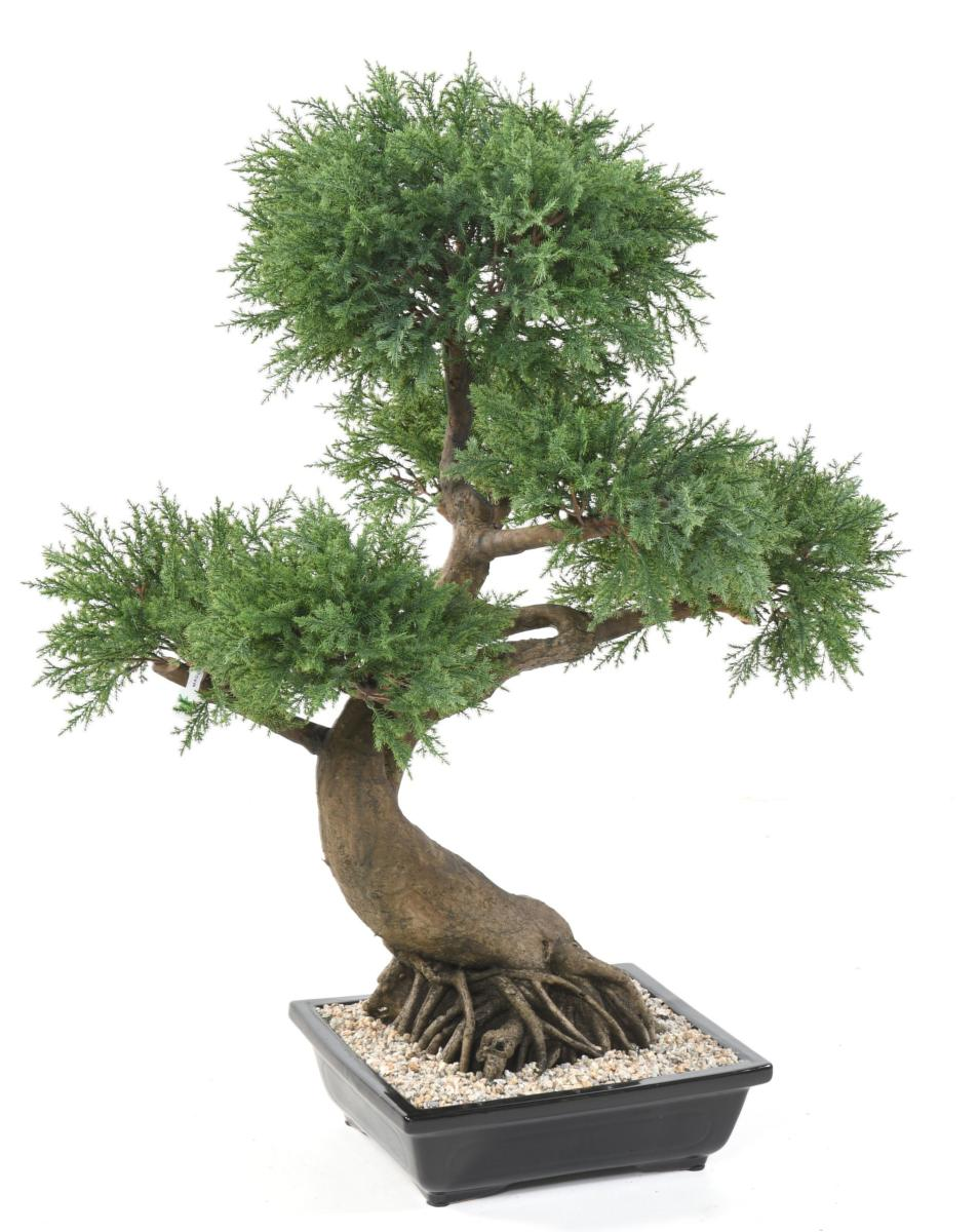 arbre artificiel bonsa juniperus en coupe plante synth tique int rieur cm. Black Bedroom Furniture Sets. Home Design Ideas