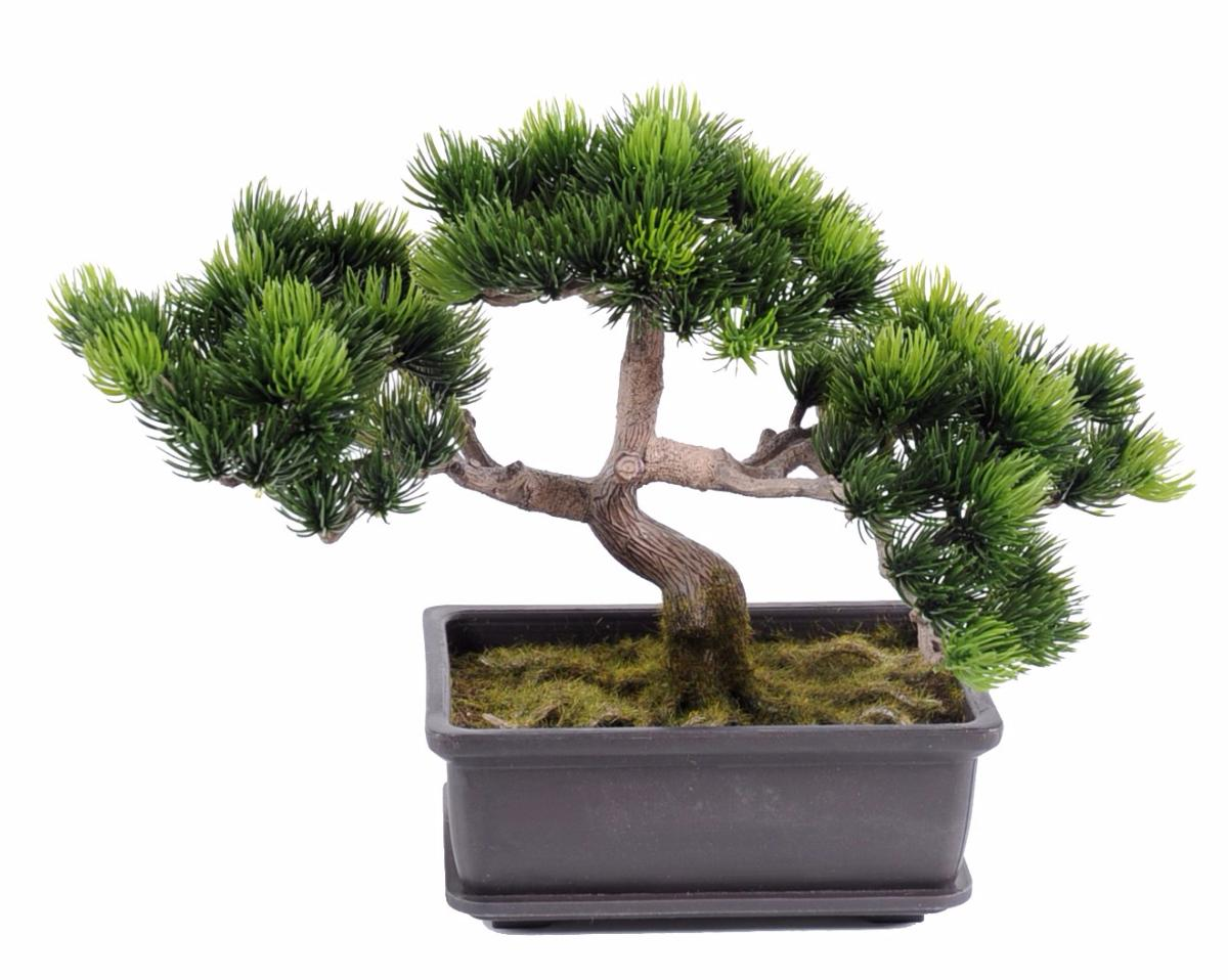 arbre artificiel miniature bonsa pin en coupe plante synth tique int rieur ext rieur 22 cm. Black Bedroom Furniture Sets. Home Design Ideas