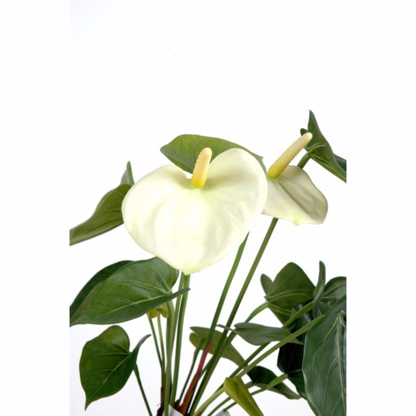 fleur artificielle anthurium en piquet plante d 39 int rieur cm blanc. Black Bedroom Furniture Sets. Home Design Ideas
