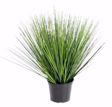 plante artificielle herbe onion grass round en pot interieur h 60 cm vert fonce. Black Bedroom Furniture Sets. Home Design Ideas