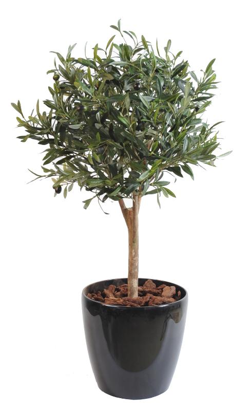 Arbre artificiel olivier new ball tree plante pour int rieur cm vert for Plante 90 cm