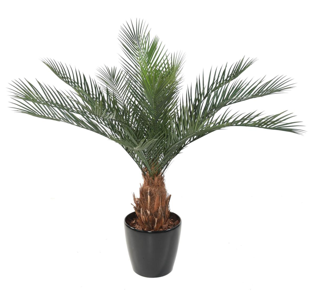 Merveilleux Palmier Artificiel Phoenix 18 Palmes   Intérieur Extérieur   H.130 Cm Vert