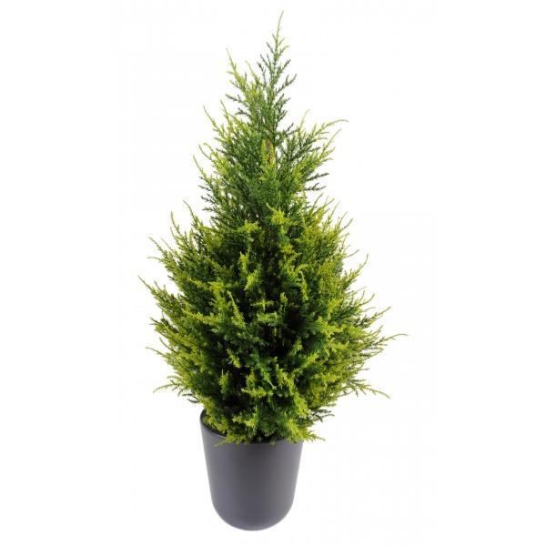 Plante artificielle cypres artificiel juniperus int rieur ext rieur cm vert jaune - Plante artificielle exterieur ...