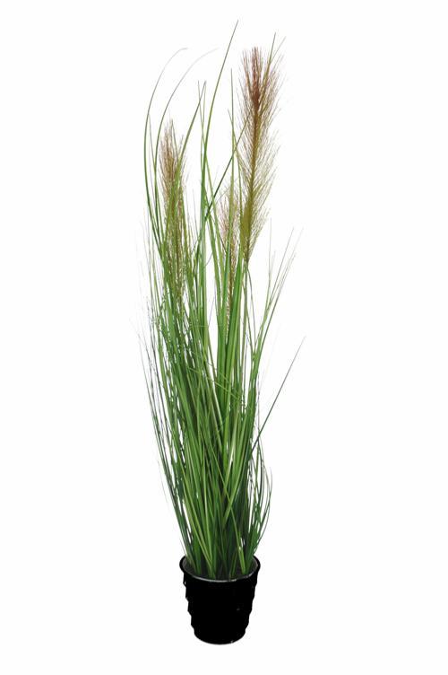 plante artificielle gramin e en pot fleurs en pis beiges int rieur h 74cm. Black Bedroom Furniture Sets. Home Design Ideas