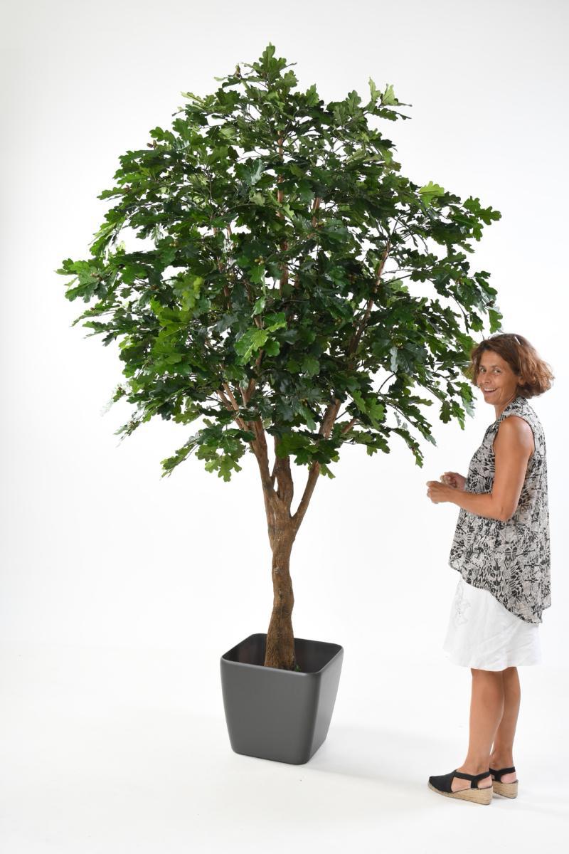 arbre forestier artificiel ch ne d coration d 39 int rieur cm vert. Black Bedroom Furniture Sets. Home Design Ideas