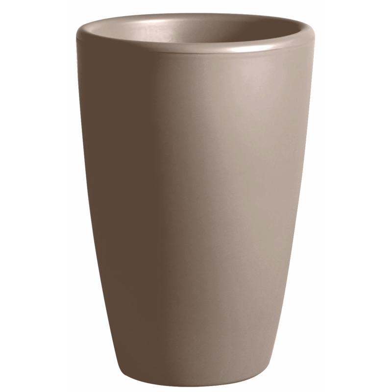 pot pour fleurs vase int rieur ext rieur x cm taupe. Black Bedroom Furniture Sets. Home Design Ideas