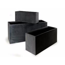 bac pour fleur jardini re ext rieur noir anthracite polystone. Black Bedroom Furniture Sets. Home Design Ideas