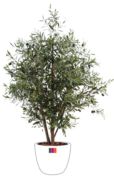 Arbre fruitier artificiel olivier buisson et olives for Plante arbre interieur