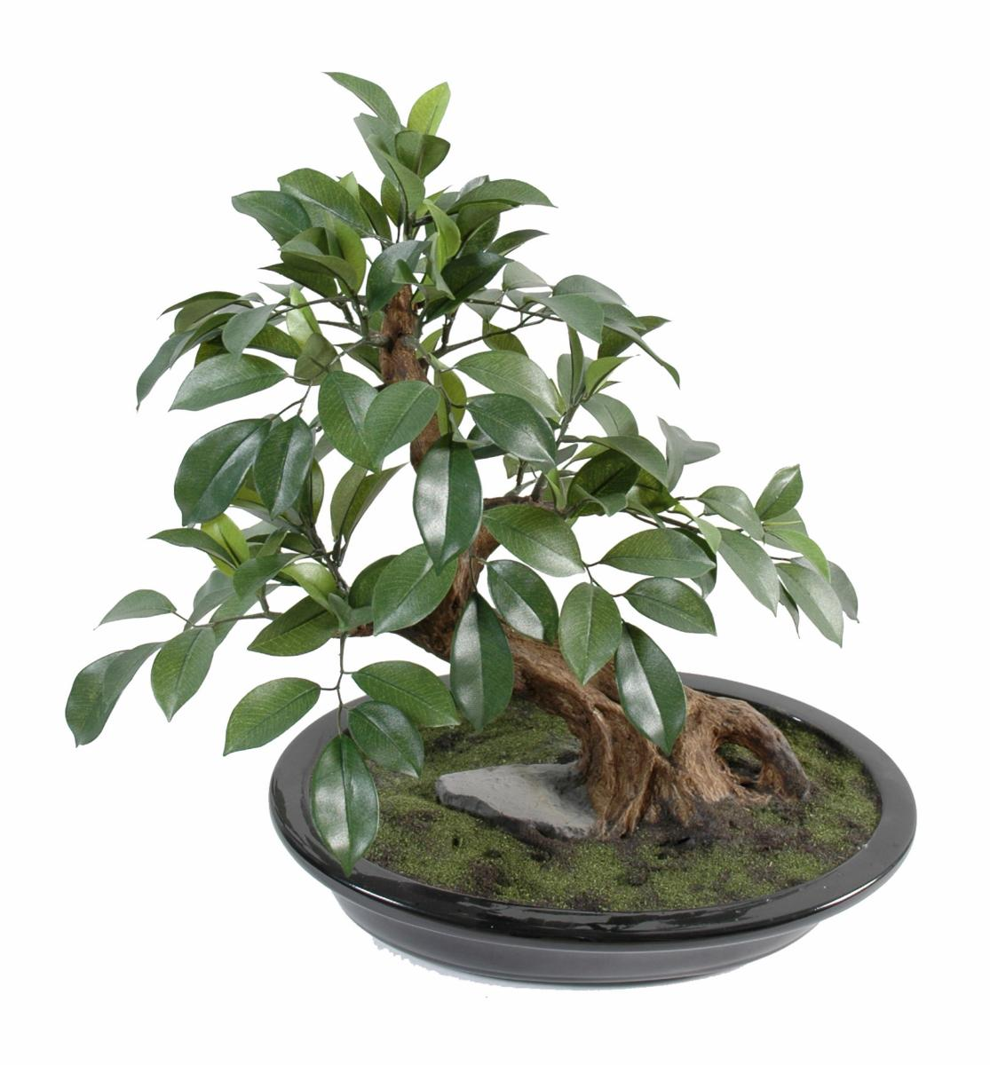arbre artificiel miniature bonsai ficus en coupe plante synth tique d 39 int rieur 41 cm vert. Black Bedroom Furniture Sets. Home Design Ideas
