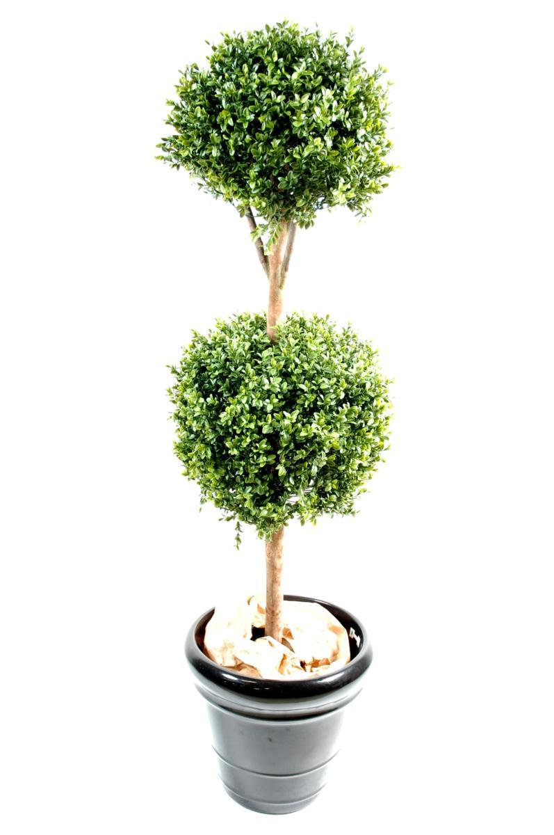 plante artificielle buis double boule d coration int rieure cm vert. Black Bedroom Furniture Sets. Home Design Ideas