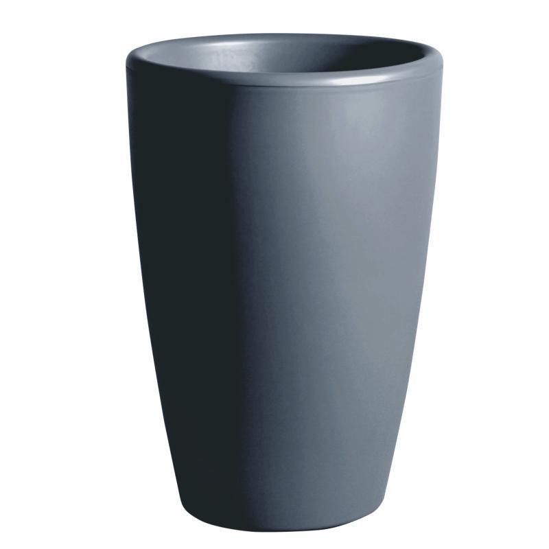 Pot pour fleurs vase int rieur ext rieur x cm gris for Pot gris exterieur