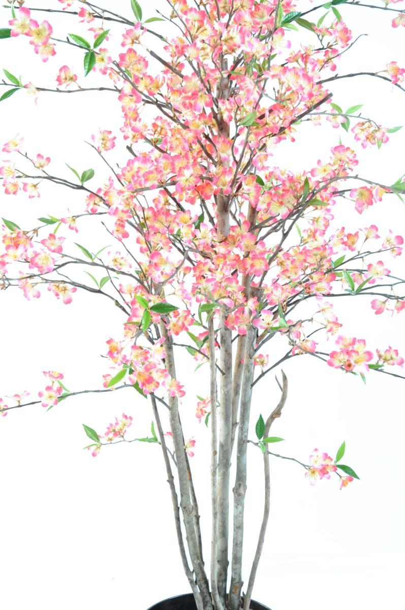 Arbre artificiel fleuri cerisier en fleurs plante synth tique cm fuchsia - Arbre deco interieur ...