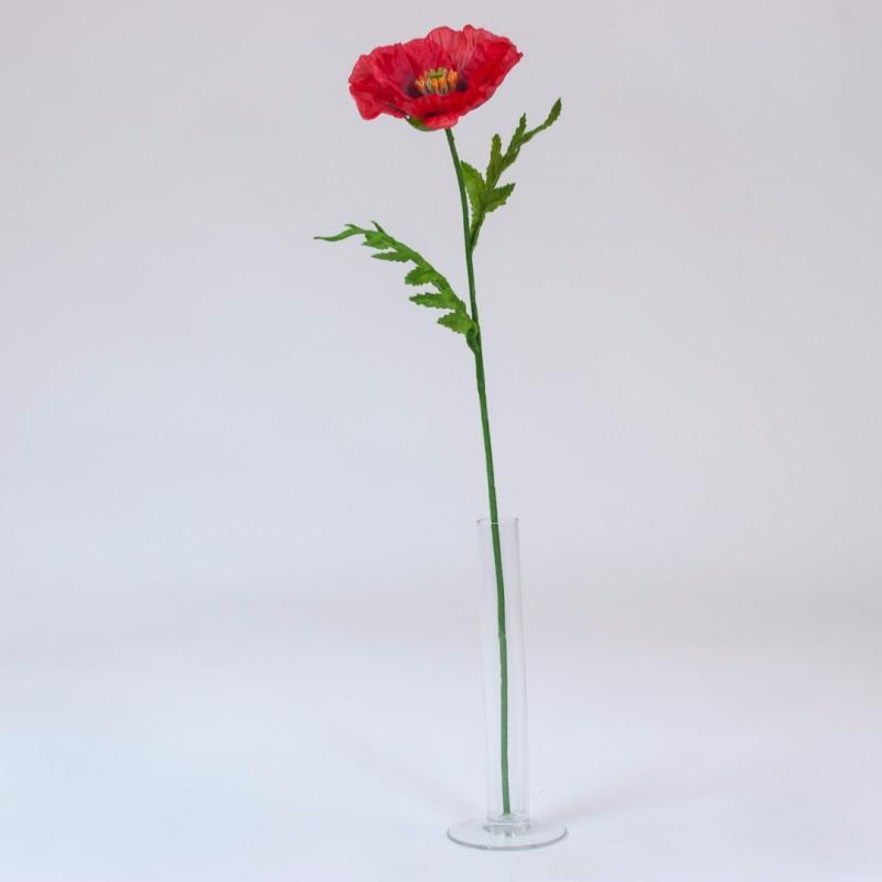 Fleur Artificielle De Coquelicot Interieur H 57 Cm Rouge