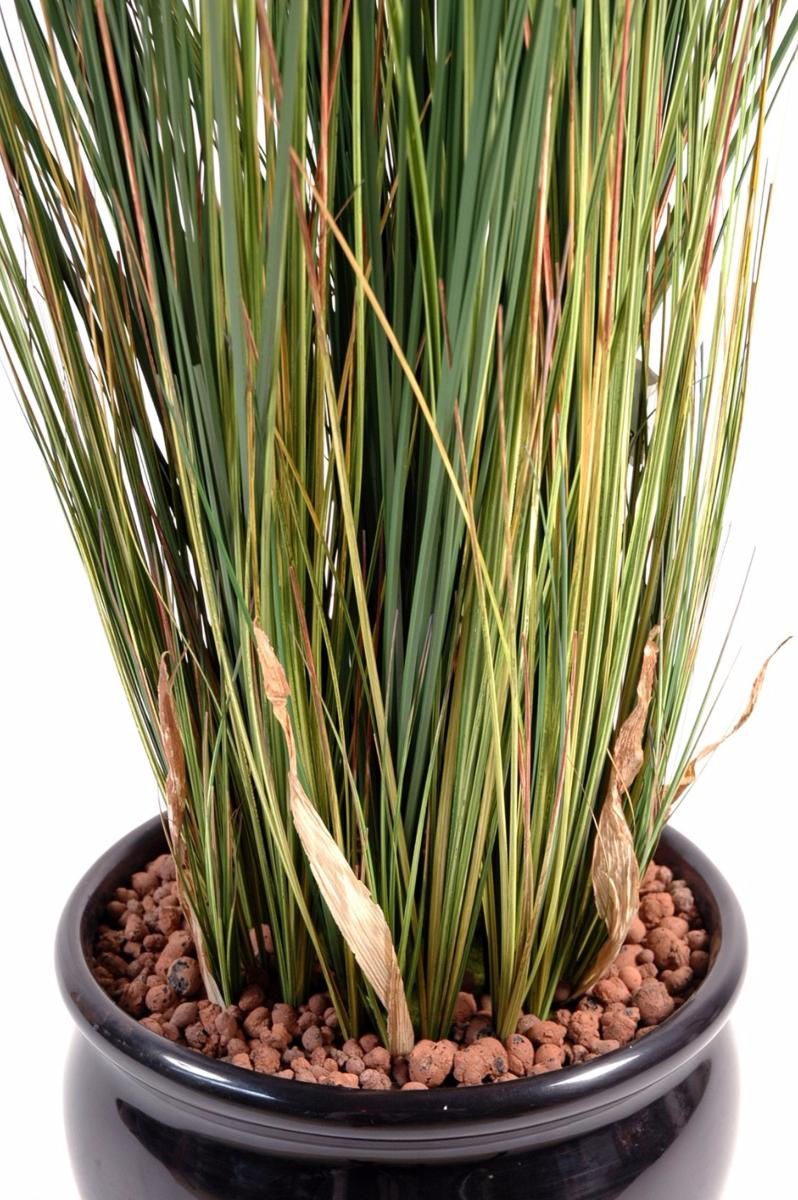 Plante artificielle herbe luxe onion grass en pot for Plante haute en pot