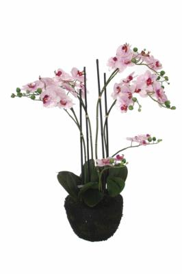 Plante artificielle orchid e en pot pour int rieur 90cm for Belle plante artificielle