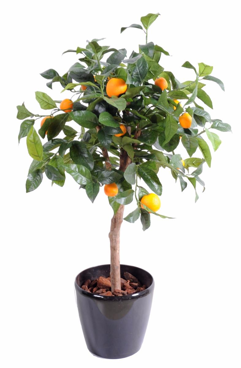 Arbre artificiel fruitier oranger t te en pot int rieur cm vert orange - Arbre fruitier en pot ...