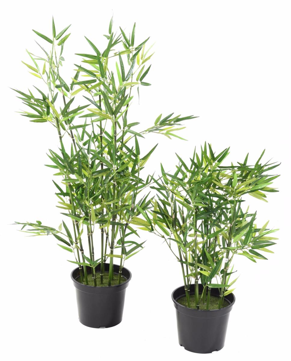 Bambou artificiel arbuste cannes vertes plante d for Arbres artificiels interieur