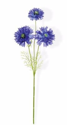 fleur artificielle bleuet 3 fleurs composition bouquet h 58 cm bleu. Black Bedroom Furniture Sets. Home Design Ideas