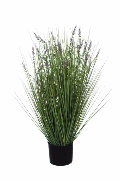 Plante fleurie artificielle lavande en pot int rieur h for Plante fleurie exterieur en pot