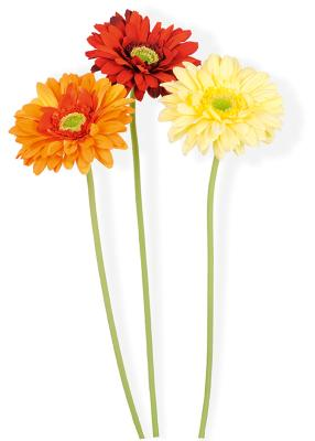 Fleur artificielle gerbera composition bouquet for Fleure artificiel