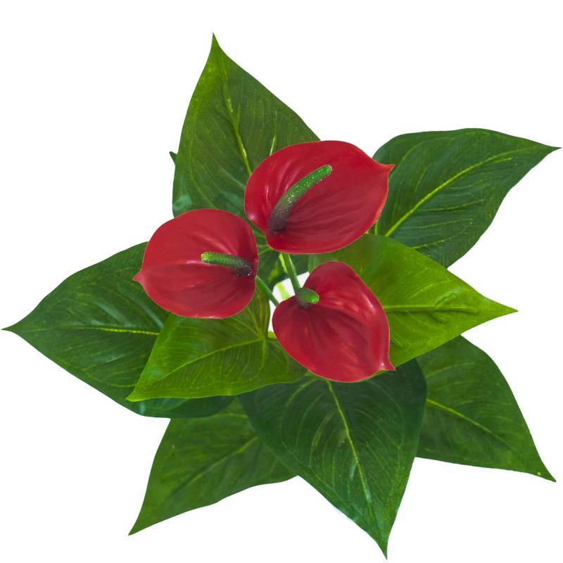 Fleur Artificielle Anthurium En Piquet Plante D Interieur H 36