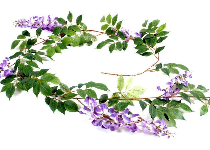 Guirlande glycine parme 180cm for Guirlande fleurs artificielles