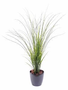 Plante artificielle herbe de rivi re plastique en pot for Plante grimpante artificielle exterieur