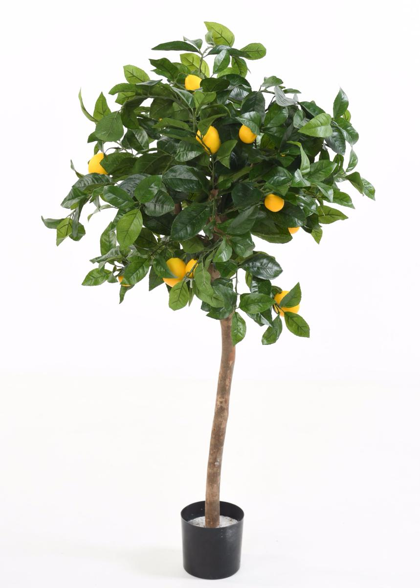 Arbre artificiel fruitier citronnier t te en pot for Arbres artificiels interieur