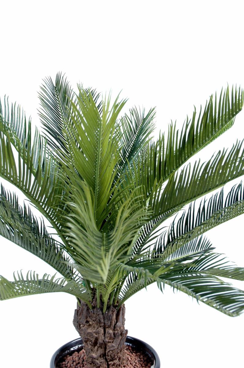 Palmier Artificiel Cycas Tronc Plante Interieur Exterieur H 90 Cm Vert