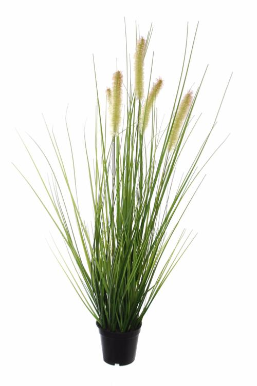Plante artificielle gramin e fleurie en pot int rieur for Plantes decoratives exterieur